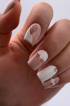 30 cute and natural square nails design ideas for summer nails - -. - 30 Sweet and Natural Square Nails Design Ideas for Summer Nails – – Nails – Estella K. Square Nail Designs, Pink Nail Designs, Short Nail Designs, Neutral Nail Designs, Nail Polish Designs, Rhinestone Nail Designs, Cute Simple Nail Designs, Best Nail Designs, Gel Manicure Designs