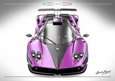 Purple Zonda ... extreme sports car!! This car is so cool and not just because it's purple!!  <3