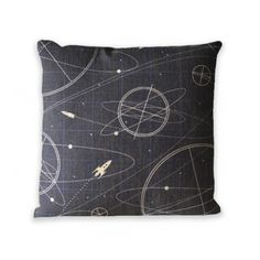 "Vintage Universe Zip Pillow Cover 18"" x 18"" by Geo Evolution"