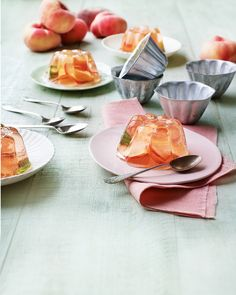 Elegant, individual jellies made with rosé wine, white peaches and elderflower cordial are a wonderfully light end to…