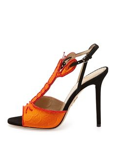 1e762d5707751 Charlotte Olympia Elsa Lobster T-Strap Sandal