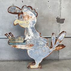 Vintage Double Sided Chicken Sign – UrbanAmericana