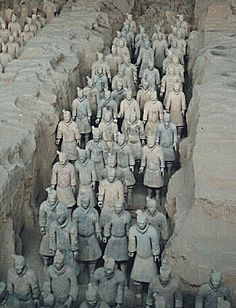 the terracota army of china essay One of the great treasures of the world is the terracotta army of qin shi-huangdi, in which an estimated 8,000 life-sized sculptures of soldiers were placed in rows as part of the qin ruler's tomb constructed between 246 and 209 bc, the mausoleum complex is much more than just the soldiers, and .