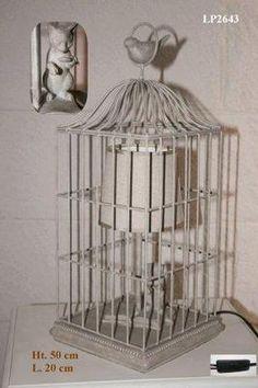 Lampe chat cage oiseau | Adorables cages!! | Pinterest | Lampe ...