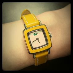 Face is about inch. Yellow Leather, Fashion Design, Fashion Tips, Fashion Trends, Lacoste, Apple Watch, Shop My, Watches, Best Deals