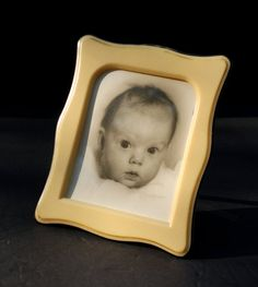 Celluloid Photo Frame - Beveled Curved Edge / Easel Back from FabsAndFaves, Etsy !!!