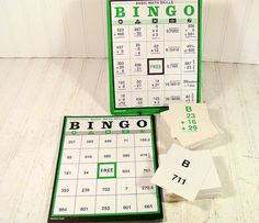 Basic Math Skills Bingo  Vintage Lakeshore by DivineOrders on Etsy, $23.00