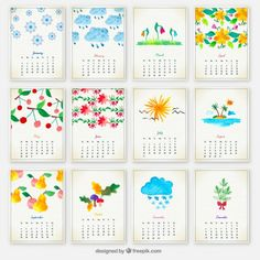 Descarga este Calendario 2016 para imprimir tu propio diseño Este calendario es a mi gusto uno de los más bonitos ya que cada mes está representado por una ilustración con un estilo acuarelado, como si lo hubiesen pintado con acuarelas y en realidad es una ilustración vectorial. Por eso lo comparto para que puedas descargarlo y hacerlo tuyo.  Espero que les guste, no se olviden de cambiar los meses a español antes de imprimirlo. Saludos y si les gusta este tipo de calendarios también les…