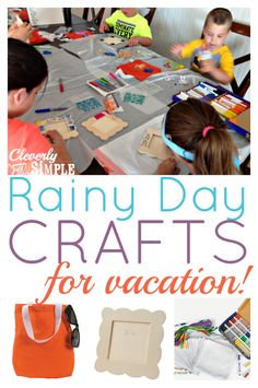 Simple rainy day craft ideas for kids!