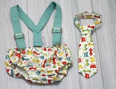 Cruiser Cars  Neck tie, Diaper cover and Suspenders set. baby Boy Photo prop cake smash, wedding, church,Easter