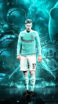 On this Sunday's British Premier League match between Arsenal vs Manchester City. Kevin de Bruyne perfoms his masterclass pefomance and make glimmer that. Manchester City Logo, Manchester City Wallpaper, Liverpool Fc Wallpaper, Manchester United, Soccer Art, Soccer Guys, Football Players, Football Is Life, Football Art