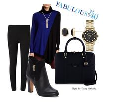 Asymmetrical tunicsare slightly edgy and add a touch of drama to leggings. | Fabulous After 40