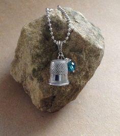 Vintage Thimble Necklace...Very Unique by 1840VintageLane on Etsy