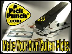 guitar pick punch - make your own picks