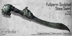 FLECHA sculpted stone sword fullperm