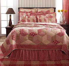 Breckenridge Red Plaid Value Quilt Set