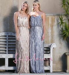 8e8c10fedce Blouson style sequins dresses in light gold and silver