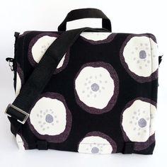 Messenger Bag Large  #Marimekko  Black White Grey by IppuStudio, €79.00 @Modern Spin