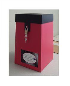 Urna personalizada para eventos. Um luxo! Criação babipapel@gmail.com