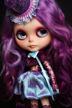 Purple Blythe Doll