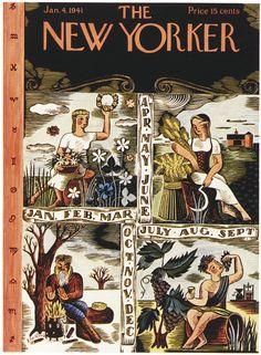 The New Yorker - Saturday, January 4, 1941 - Issue # 829 - Vol. 16 - N° 47 - Cover by : Ilonka Karasz