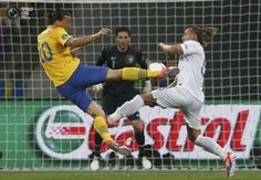 Zlatan Ibrahimovic's beautiful goal. Sweden vs. France 2:0