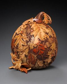 pic of wood burned gourds | Amazing Gourd Carving Art by Marilyn Sunderland – DesignSwan.com