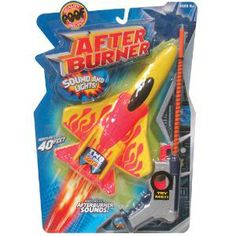 After Burner - Spring launched foam plane with lights and sound! Watch as it flies over 40 feet! Take aim and let your plane soar!