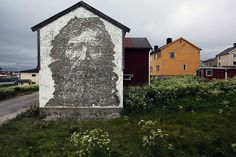 Alexandre Farto (Vhils) • Vardo, Norway. His groundbreaking carving technique is hailed as one of the most compelling approaches to art created in the street in the last decade. He uses chisels, drills, jackhammers and small explosives. #MrBowerbird