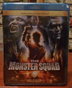 The Monster Squad (Blu-ray Disc, Anniversary Edition) Best Fall Movies, Blu Rays, Monster Squad, 20th Anniversary, Horror Movies, Movie Posters, Horror Films, 20th Birthday, Film Poster