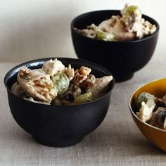 Chicken Salad with Grapes and Walnuts -- omit nuts. Can use raisins instead of grapes. Grape Recipes, Walnut Recipes, Salad Recipes, Healthy Cooking, Healthy Eating, Cooking Recipes, Healthy Recipes, Gourmet Recipes, Yummy Recipes