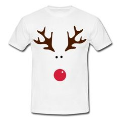Simple yet fun Rudolph design.T-Shirts.