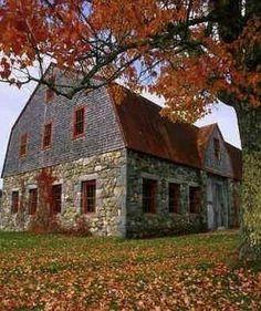 nice barn - love the bottom stone portion