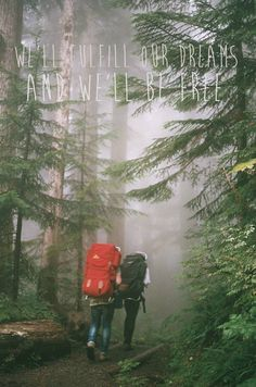 we'll fulfill our dreams and we'll be free | Mumford and Sons | hiking, camping, exploring, adventure, dreaming...