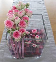 Bloemschikken met trosroosjes - trosrozen bloemstuk maken
