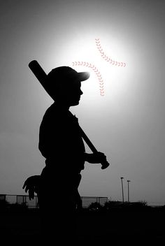 Valerie Brooker Photography -baseball silhouette