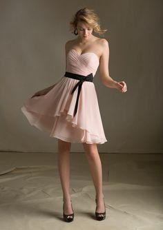 2014 Mori Lee Bridesmaids Dresses 31013 Chiffon with Satin