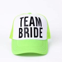 ae58b59aa590b TEAM BRIDE Bachelorette Caps Hat Size  One Size Style  Casual Material   Cotton Strap