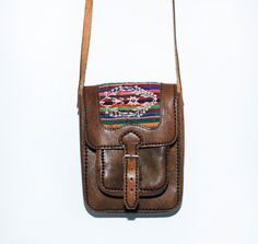 Vintage Ethnic Leather and Tapestry Mini by redpoppyvintageshop, $42.00