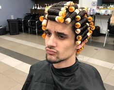 Perm Hair Men, Men Perm, Permed Hairstyles, Boy Hairstyles, Curlers, Haircuts For Men, New Hair, Perms, Roller Set
