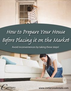 Cortiers Blog: How to Prepare Your Home Before Placing it on the Market. Selling a house can be a difficult thing to achieve.  The last thing you want to happen after finding a home you want to move into, is not being able to sell the one you have on the market.  In order to avoid any inconveniences as such, there are several steps one can take. www.cortiersrealestate.com, Cortiers Real Estate   College Station Real Estate