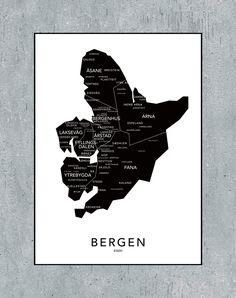 Bergen kontur - svart from NØR