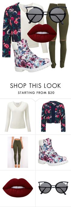 """""""Flower passion"""" by stay-true-loyal on Polyvore featuring Timberland and Lime Crime"""