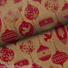 Christmas Wrapping Paper/folded loosely - comes in sets of 3