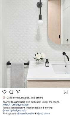 Australia's leading supplier of unique, high quality stone, tiles, architectural surfaces, bathware and furniture for commercial and residential architectural projects Feature Tiles, Under Stairs, Master Bathroom, Repeat, Wave, House Ideas, Interior Design, Mirror, Architecture