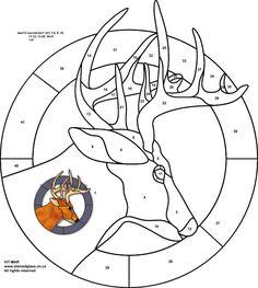 Трафареты, эскизы и шаблоны витражей — Искусство цветного стекла Vit-Mar — Олень