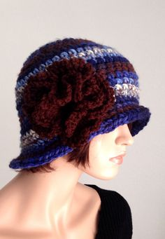 Crochet Cloche. 1920s High Fashion Inspired Hat. by Africancrab, $20.00