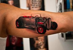 car tattoos | For this week's Tattoo Tuesday here's a classic car tattoo by the ...