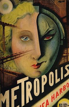 Foreign language movie poster for Metropolis Internetový antikvariát, directed by Fritz Lang, 1927.