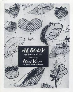 Albouy (Millinery) 1948 René Véron Résilles